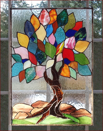 colorful tree panel